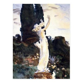 Cartão Postal Estátua de Sargent- do cantor de John de Daphne