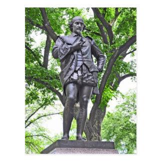 Cartão Postal Estátua de William Shakespeare no Central Park
