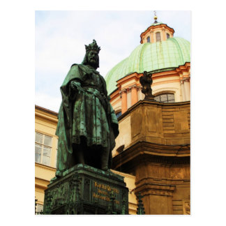 Cartão Postal Estátua do rei Charles, Praga