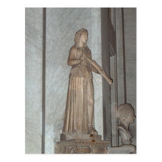 Cartão Postal Estátua no museu do vaticano em Roma, Italia
