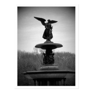 Cartão Postal estátua preto e branco