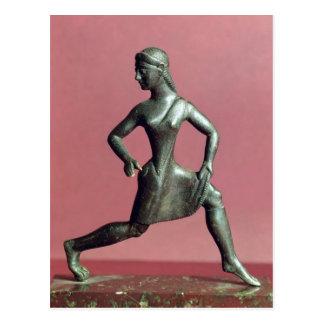 Cartão Postal Estatueta de um corredor da menina,
