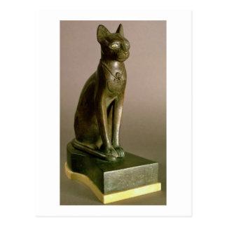 Cartão Postal Estatueta de um gato que representa a deusa Bastet