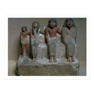 Cartão Postal Estatueta de um grupo da família (pigmento no giz)