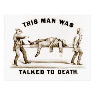 Cartão Postal Este homem foi falado à morte
