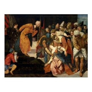 Cartão Postal Esther antes de Ahasuerus, 1548