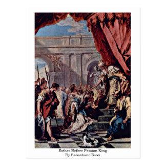 Cartão Postal Esther antes do rei persa Sebastiano Ricci