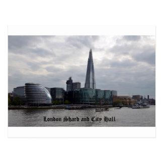 Cartão Postal Estilhaço e câmara municipal de Londres