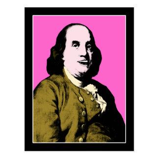 Cartão Postal Estilo de sorriso de Alá de Ben Franklin