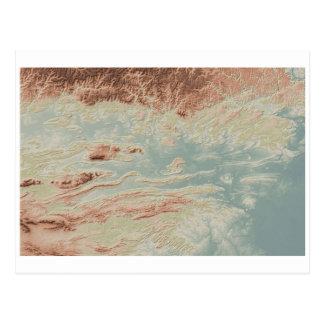 Cartão Postal Estilo do clássico do vale de Arkansas River