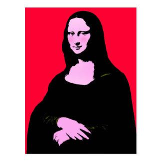 Cartão Postal Estilo do pop art de Mona Lisa