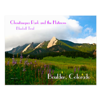 Cartão Postal Estilo do vintage de Boulder, Colorado