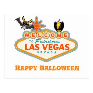 Cartão Postal Estilo feliz do Dia das Bruxas Las Vegas