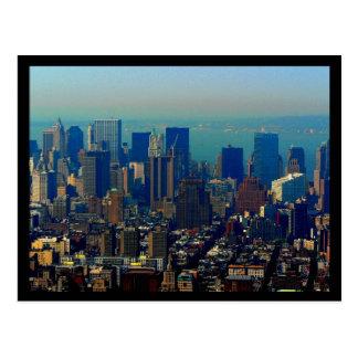 Cartão Postal Estilo financeiro do distrito 70s de NYC