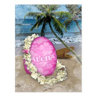 Cartão Postal Estilo havaiano de cumprimento da páscoa