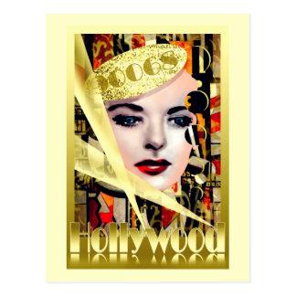 Cartão Postal Estilo retro do vintage de Hollywood
