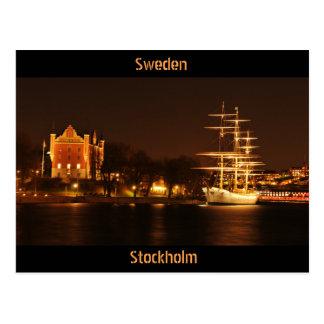 Cartão Postal Éstocolmo, suecia na noite