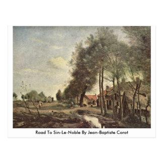 Cartão Postal Estrada a Pecado-Le-Nobre por Jean-Baptiste Corot
