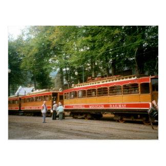 Cartão Postal Estrada de ferro da montanha de Snaefell, ilha do