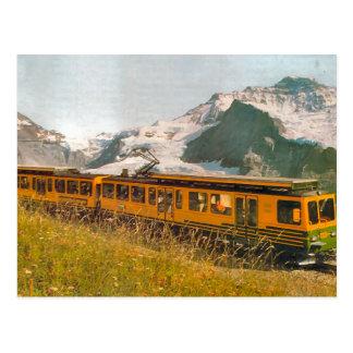 Cartão Postal Estrada de ferro da montanha, região de Jungfrau