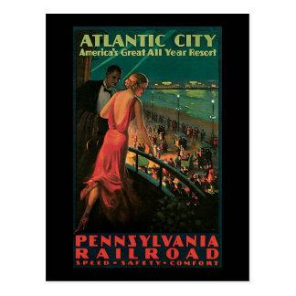 Cartão Postal Estrada de ferro de Atlantic City Pensilvânia