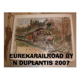 Cartão Postal Estrada de ferro de Eureka pelo normando Duplantis