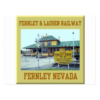 Cartão Postal Estrada de ferro de Fernley Lassen