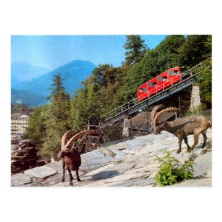 Cartão Postal Estrada de ferro de funicular mais dura de Kulm,