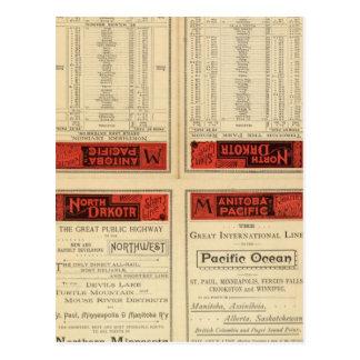 Cartão Postal Estrada de ferro de St Paul, de Minneapolis e de