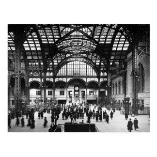 Cartão Postal Estrada de ferro do vintage da Nova Iorque da