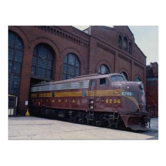 Cartão Postal Estrada de ferro EMD E-8 de Pensilvânia restaurada