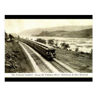 Cartão Postal Estrada de ferro limitada nacional c1920s de
