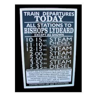 Cartão Postal Estrada de ferro ocidental de Somerset, calendário