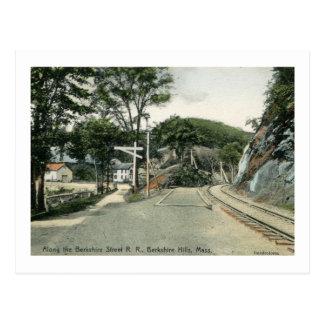 Cartão Postal Estrada de trilho, colinas de Berkshire, vintage