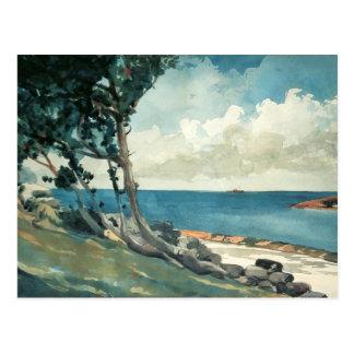 Cartão Postal Estrada norte, Bermuda por Winslow Homer