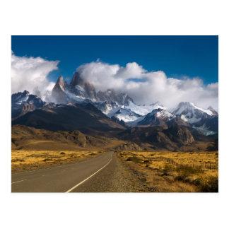Cartão Postal Estrada para montar Fitzroy, Patagonia