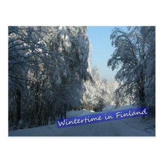 Cartão Postal Estrada secundária invernal