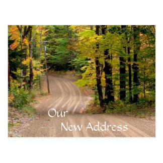 Cartão Postal Estrada secundária nova rural do endereço em