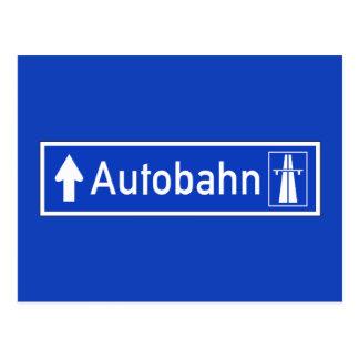 Cartão Postal Estrada, sinal de tráfego, Alemanha