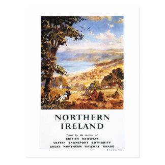 Cartão Postal Estradas de ferro pastorais de Ingleses do homem e