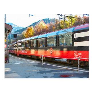Cartão Postal Estradas de ferro suíças; Estação de Hassliberg