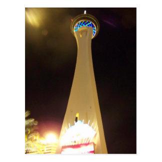 Cartão Postal Estratosfera na noite - Las Vegas