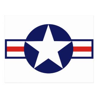 Cartão Postal Estrela 1947-1999 do avião militar dos E.U.