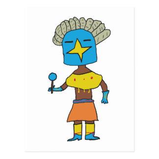 Cartão Postal Estrela azul Kachina