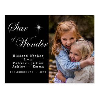 Cartão Postal Estrela de Bethlehem do preto da maravilha