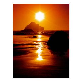 Cartão Postal Estrela de brilho - rocha da cara, Bandon, Oregon