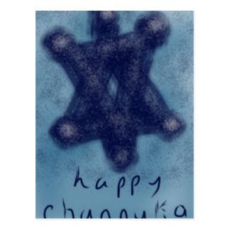 Cartão Postal Estrela de Channukah