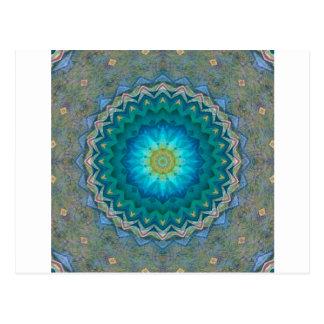 Cartão Postal Estrela de flor de estrela setembro