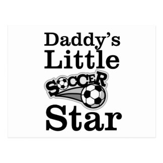 Cartão Postal Estrela de futebol do pai pouca