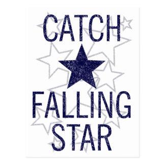 Cartão Postal estrela de queda da captura